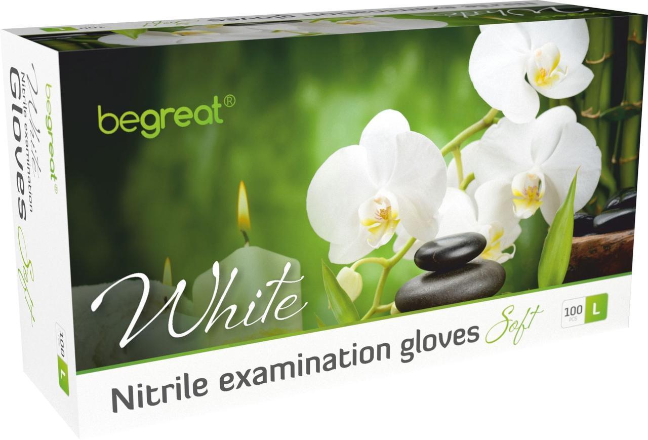 Рукавички нітрилові Fiomex White, premium - 100 шт/уп, L