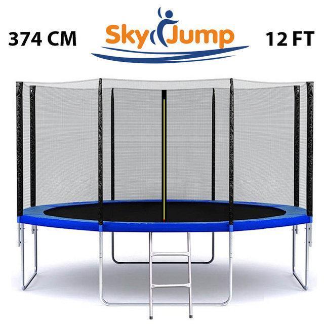 Батут 374 см (12ft) SkyJump с защитной сеткой и лестницей (SJ12FT374)