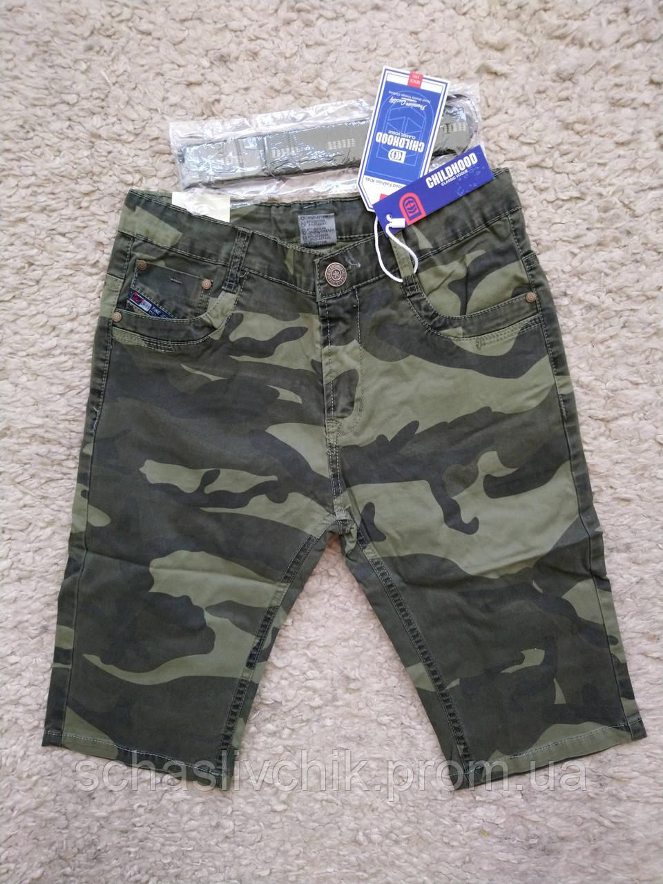 Детские джинсовые бриджи, шорты для мальчиков и девочек, размер 134-164, фирма Childhood