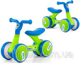 Беговел для малюків Milly Mally Tobi Blue-Green