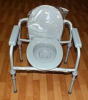 Стул туалет складной регулируемый, фото 1