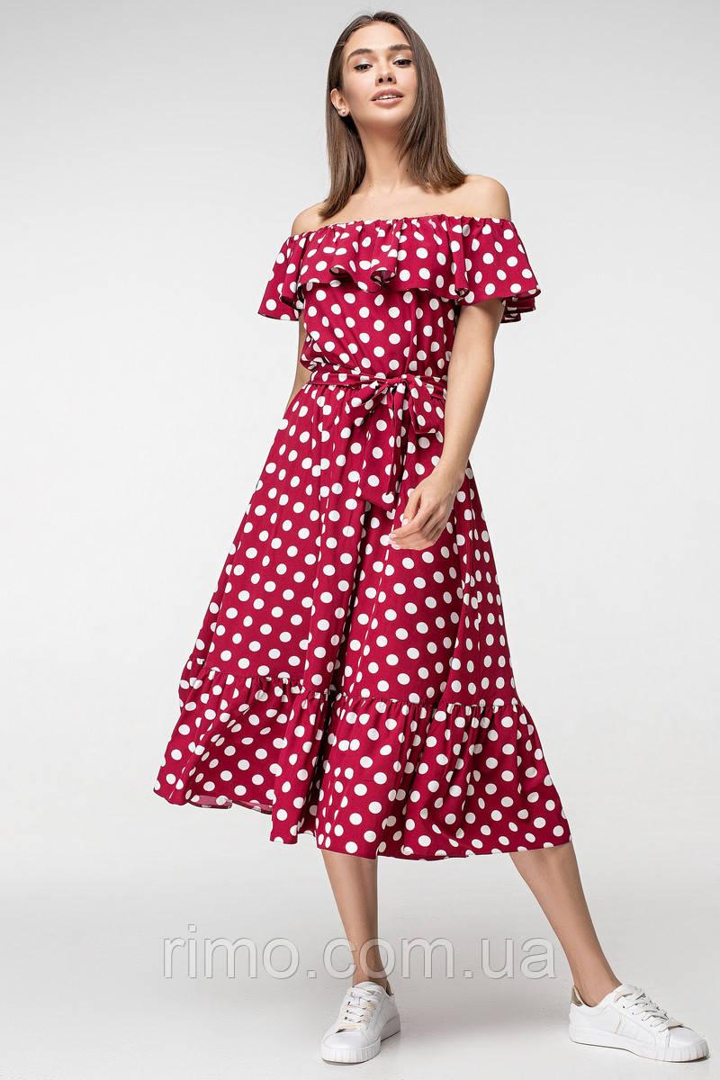 a5c3788f857 Платье летнее в горох 5170 - Rimo интернет-магазин одежды в Харькове