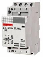 Модульный контактор 4 полюса, 25А, 4NO, 220 В, (E.Next)