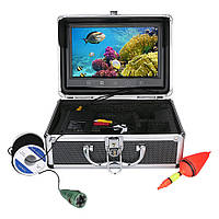 Підводна камера для риболовлі валізу 9 дюймовий екран кабель 15м, фото 1