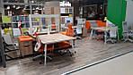 Пенал книжный открытый Delta DL-602 (434х420х1685мм) Блэквуд Ячменный/Опора белый беж, фото 3