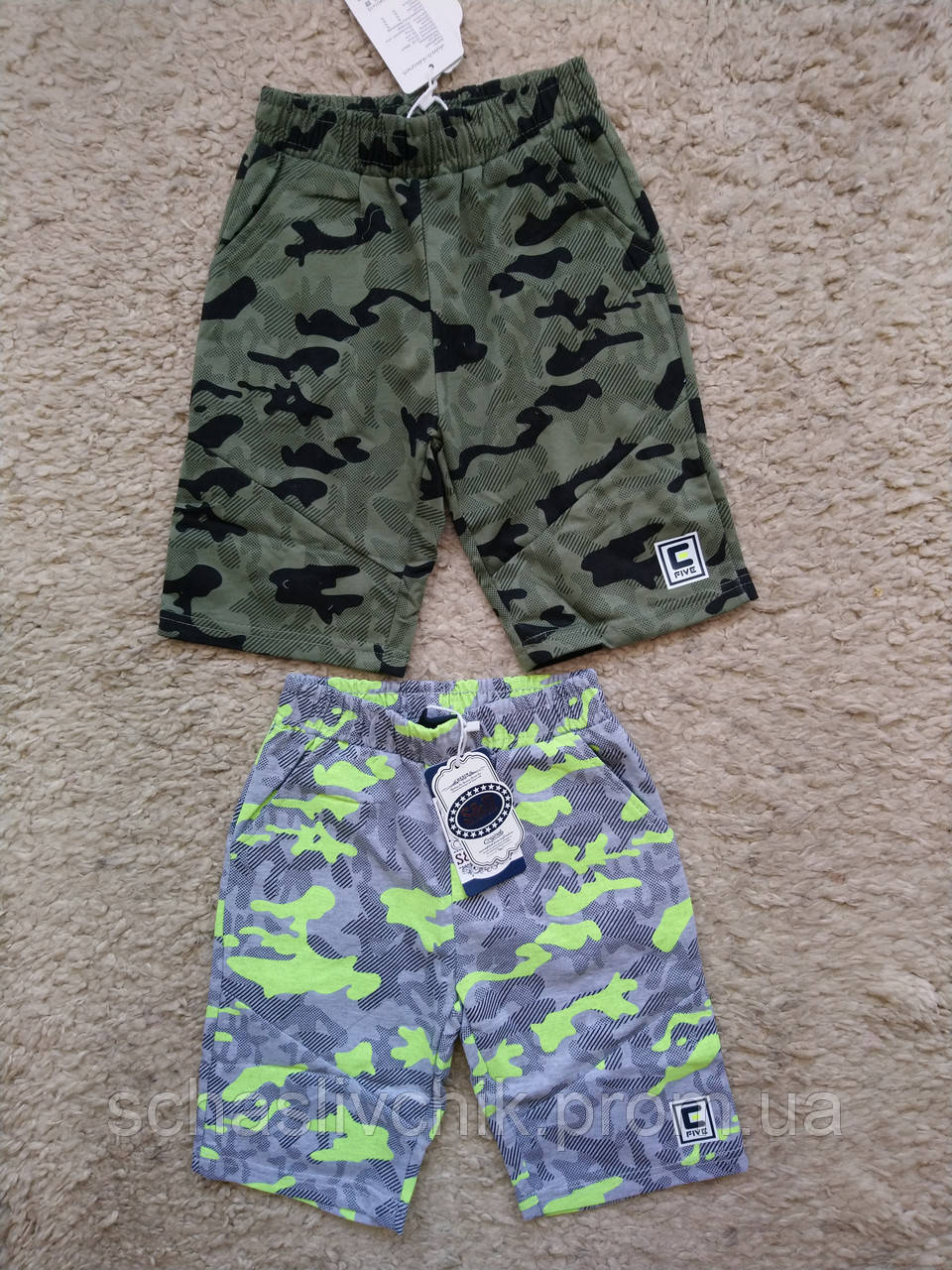 Детские джинсовые бриджи, шорты для мальчиков и девочек, размер 98-128, фирма S&D