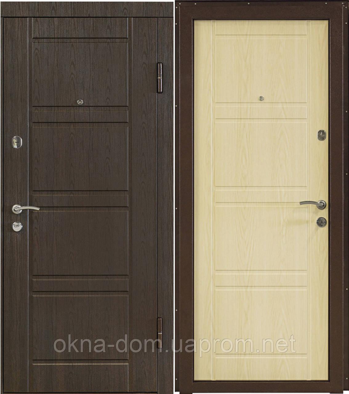 """Входная дверь """"МИНИСТЕРСТВО ДВЕРЕЙ"""" ПО-09  Венге структурный/Дуб белёный"""