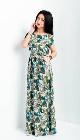 """Летнее длинное платье """"Цветана"""" размеры 44-46, фото 2"""