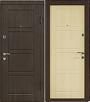 """Входная дверь """"МИНИСТЕРСТВО ДВЕРЕЙ"""" ПK-09 Венге структурный/беленый дуб"""