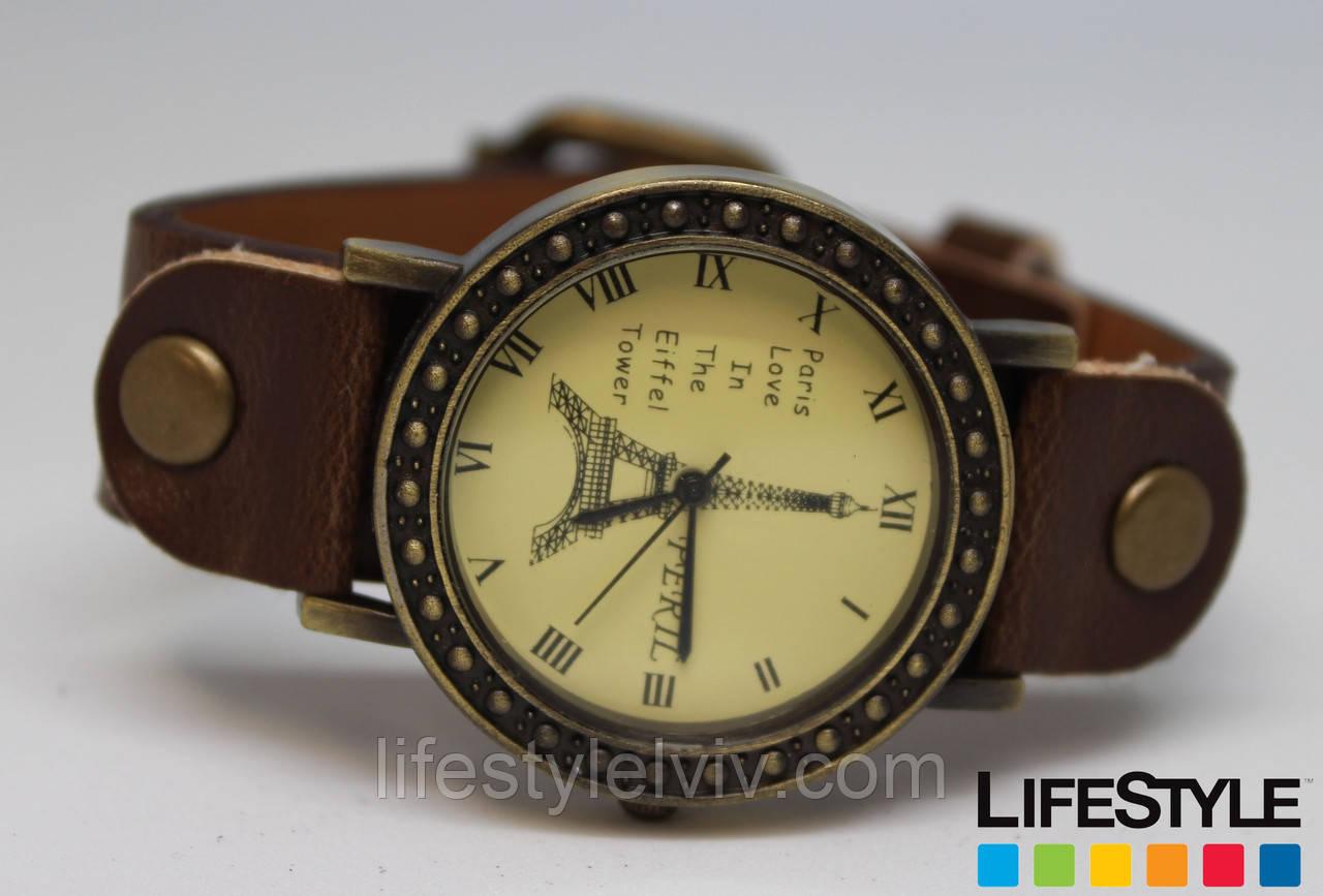 Женские стильные наручные часы Parise Love коричневые