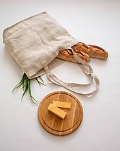 Шоппер эко сумка для продуктов лен белая