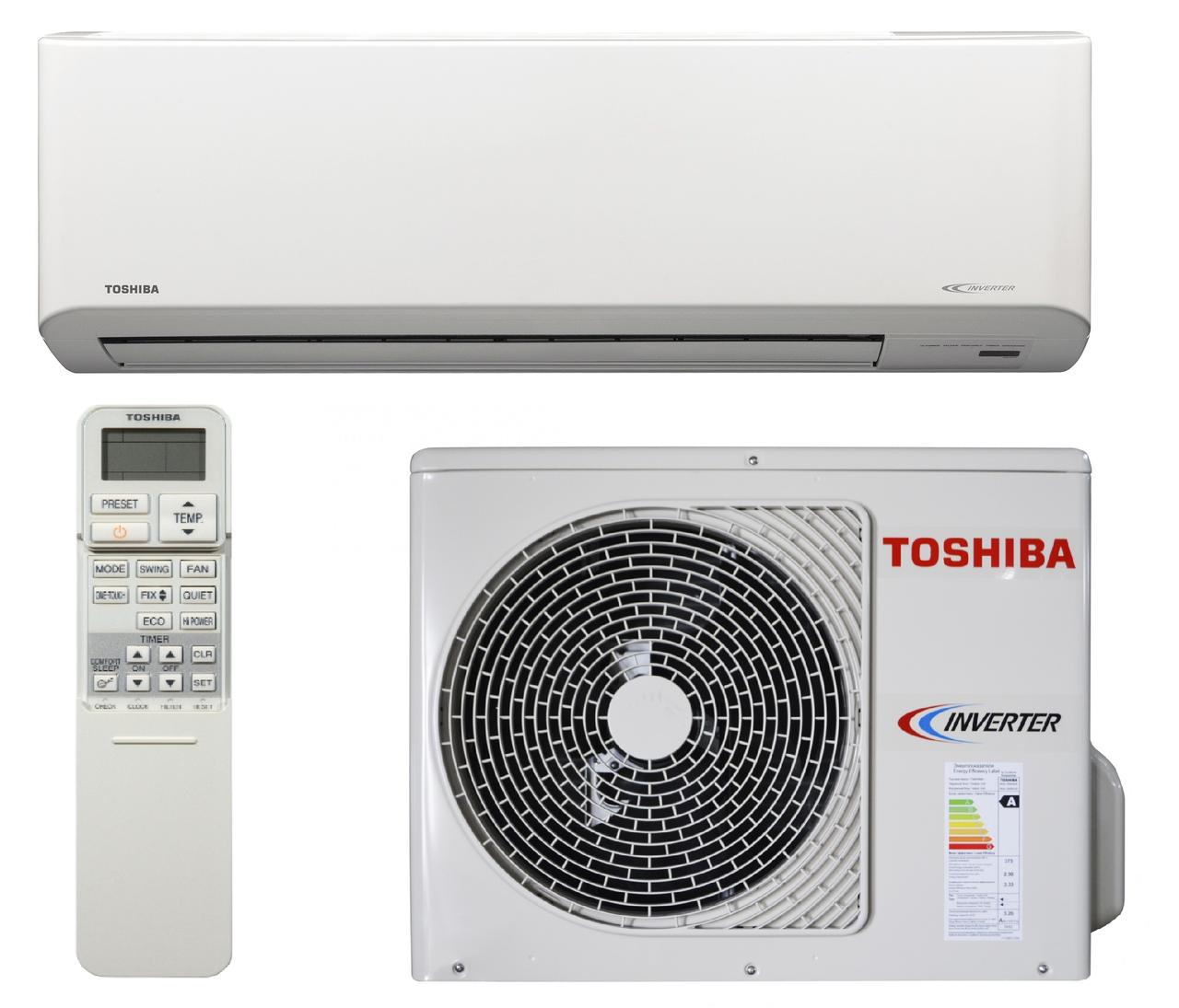 Инверторный кондиционер Toshiba до 65 кв.м RAS-22N3KVR-E/RAS-22N3AV-E