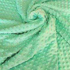 Плюш минки точка мятный плотность 310 г/м2