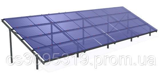 Крепёжная система для монтажа солнечных панелей наземная