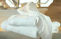 Отбеленная вафельная ткань, ширина  150см.