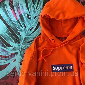 Худи Supreme Orange (вышивка)