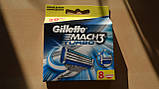 Gilette Mach3 Turbo 8 шт. в упаковке, Германия, сменные кассеты для бритья, фото 8
