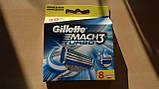 Gillette Mach3 Turbo 8 шт. в упаковці, Німеччина, змінні касети для гоління, фото 8