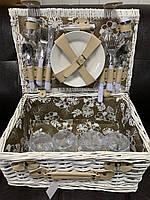 Корзина, набор для пикника из лозы на 4 персоны 019PPN, фото 1