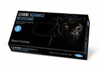 Рукавички нітрилові, DOMAN Black Panther - 100 шт/уп, S