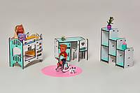 Мебель для кукольного домика Барби NestWood, бело-мятная (ДЕТСКАЯ)