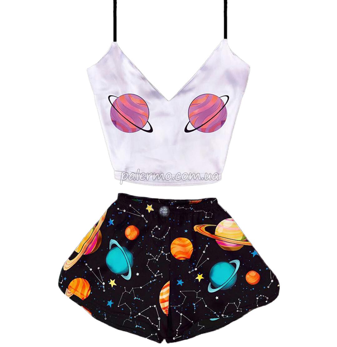 Пижама женская Space 💫 шелковая