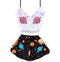 Піжама жіноча Space 💫 шовкова, фото 1