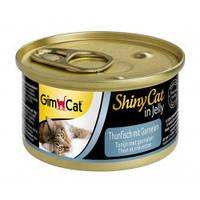Влажный корм Gimborn ShinyCat с тунцом и креветками 70 г