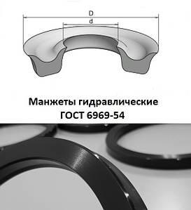 Манжеты гидравлические (воротниковые) ГОСТ 6969-54
