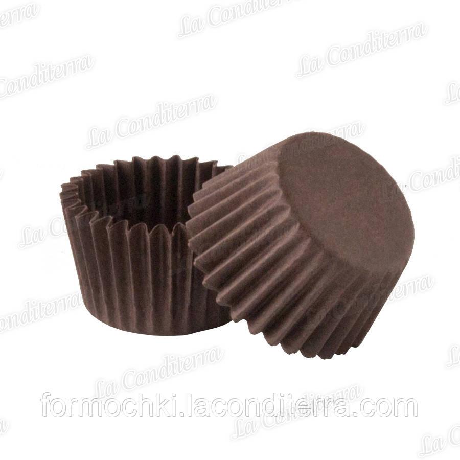 Коричневые бумажные формочки для конфет 1а (Ø21, бортик – 16 мм), 2000 шт.