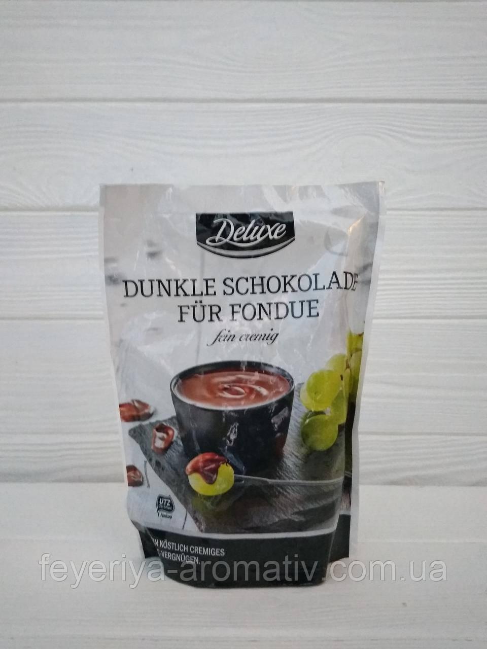 Черный шоколад для фондю Deluxe Dunkle Schokolade fur Fondue 200гр (Германия)