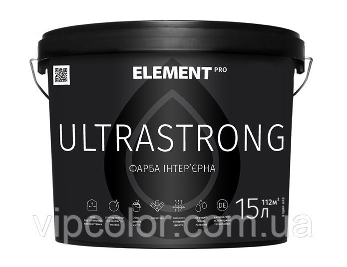 ELEMENT PRO ULTRASTRONG 15 л База А шелковисто-матовая интерьерная краска
