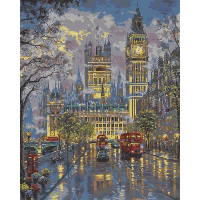 "Картина по номерам ""Дождливый Лондон. Дворец Вестминстер ""  (40х50 см)"