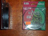 Шнур плетёный bizon pe серый 0,18 мм