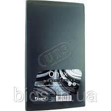 Вiзитниця пластикова Onyx, сіра 72 віз. Axent