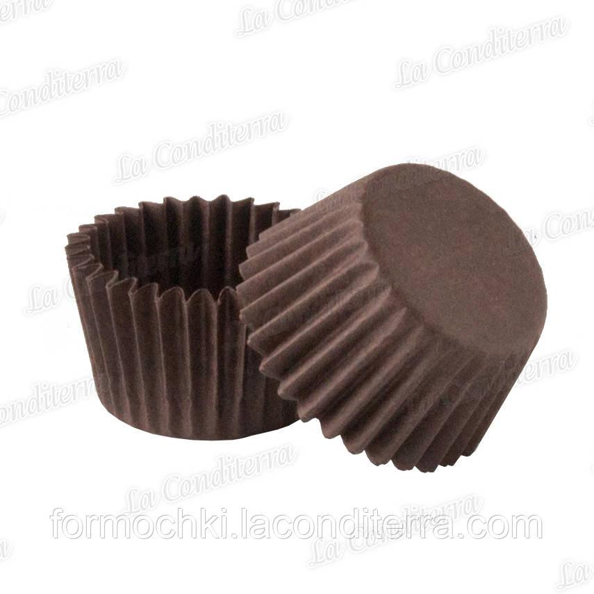 Паперові формочки для цукерок коричневі 3b (O30, бортик – 24 мм), 2000 шт.