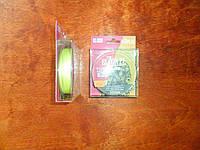 Шнур плетёный bizon pe fluoro yellow  0.06 мм