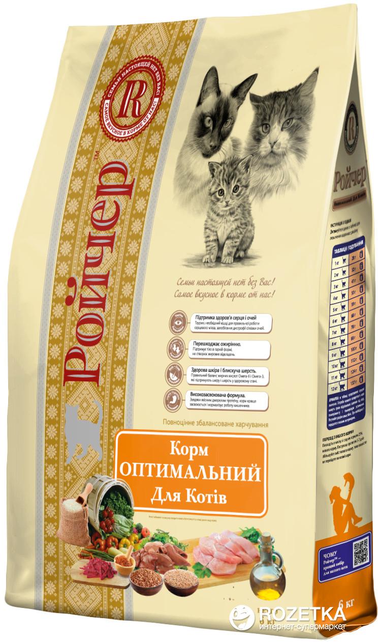 Сухой корм для кошек Ройчер Оптимальный, 6 кг