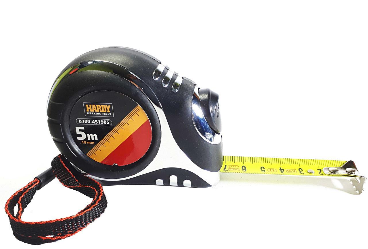 Рулетка измерительная 5 м х 19 мм, Hardy Working Tools (0700-451905)