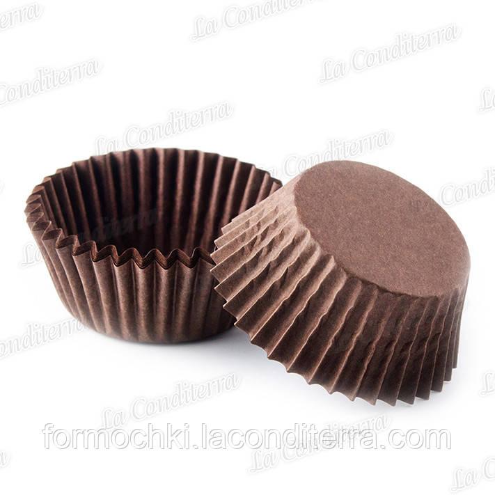 Бумажные формы для конфет и кексов коричневые 4 (Ø35, бортик – 20 мм), 2000 шт.