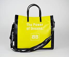 Сумка желто-черная с принтом 9156