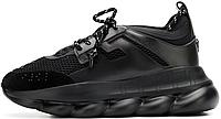 Женские кроссовки Versace Chain Reaction 2 Triple Black DSR705G-D7CTG DSW 350 D41, Версаче Чейн Реакшн 2