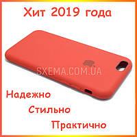 Чехол накладка для iPhone 6/6S силиконовый Silk Silicone Red