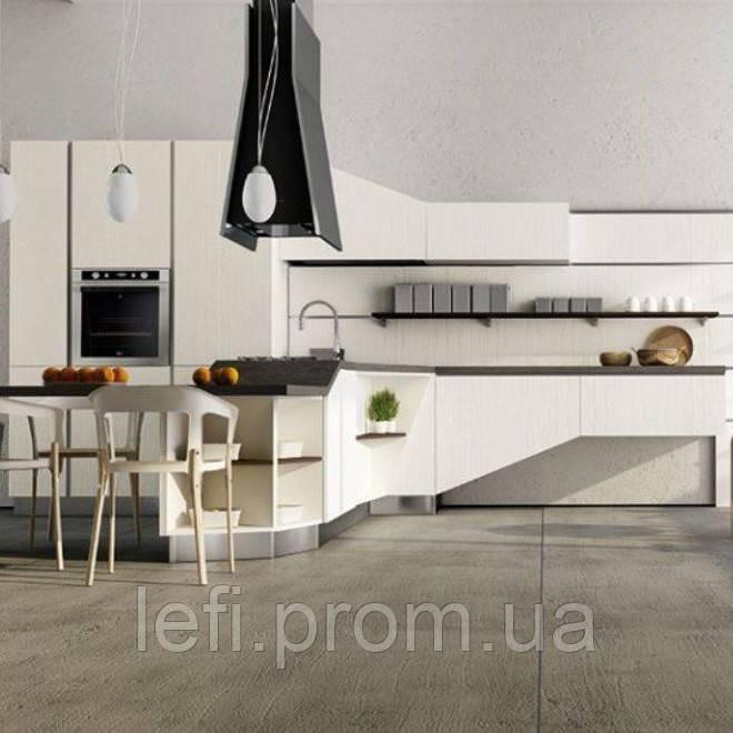 Кухня с фасадами из акриловых панелейна фурнитуре Linken System или GTV