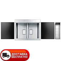 Кухонная мойка с двумя чашами и смесителем Apell Sinphonia PD862IKITB 86*50