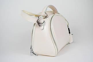 Кожаная сумка светло-бежевая Farfalla Rosso 633, фото 3
