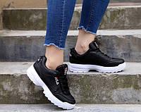 Кроссовки женские в стиле Fila на платформе (Экокожа)