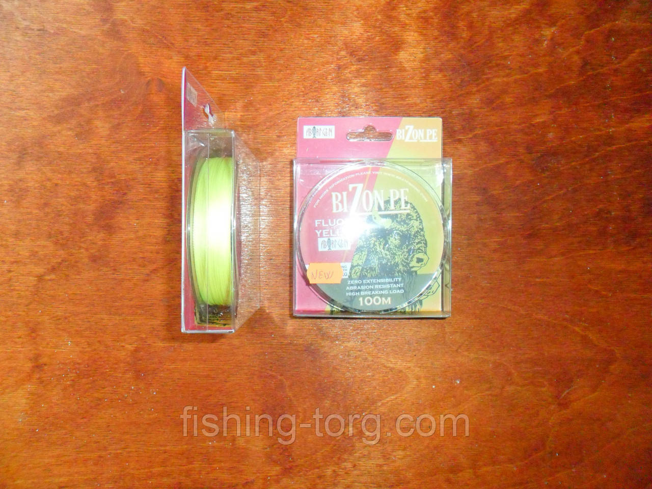 Шнур плетёный bizon pe fluoro yellow  0.24 мм