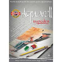 Альбом для акварели, 20 лист., A4, с эскизами, KOH-I-NOOR