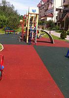 Резиновая плитка на детскую площадку 1м x1м H=30мм PRO высокое качество